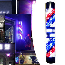 "29"" Barber Shop Led Rotary Pole Light Hair Salon Sign Lamp Red Blue Stripe Light"