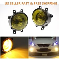 Pair of 3000K Yellow Fog Light Lamp Left Right RH LH Side For Toyota Camry Yaris