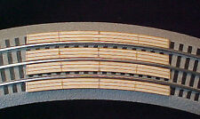 "RR X Crossing for Lionel O Fastrack 3-rail 36""curve sectional track."