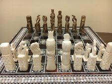 Handmade Chess Pieces Set Real Camel Bones