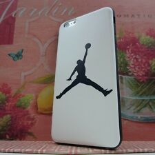 """Jordan Jumping Man #BK Rubber+Leather Cover Case for Apple iPhone 6 Plus 5.5"""""""