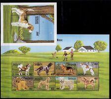 Central Africa 199 MNH MS+SS, Beagle Dog, Dogs Farm Animals  -V93