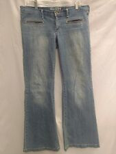 Hollister  Super Flare low  sz 9  jeans Bell Bottom hipster medium denim