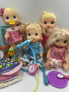 Huge Lot Of Baby Alive Dolls Burps Noodle Fairy Better now Clothes accessories
