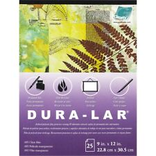 "Dura-lar Clear .005 Pad 9""x12""-25 Sheets"