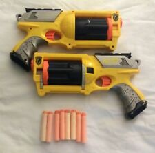 Nerf N-Strike Maverick Rev-6 Lot Of 2 Guns Rotating Barrell 8 Soft Foam Darts