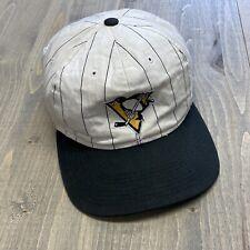 Vintage Pittsburgh Penguins Starter Pinstripe snapback hat cap NHL streetwear