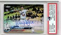 2018 TOPPS CHROME ROOKIE AUTOGRAPH REFACTOR #RA-WB WALKER BUEHLER DUAL GRADED