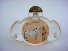 Beautiful Chinese Hand Interior Reverse-Painted  Crystal Snuff Bottle.RARE!