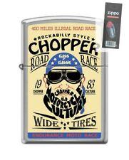 Zippo 207 CHOPPER ROAD RACE 1983 endurance moto poster RARE Lighter + FLINT PACK