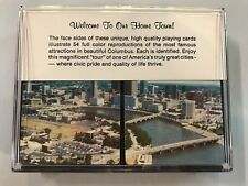Columbus Ohio Famous Attractions Playing Cards (2 Decks) In Plastic Case