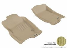 For 2006-2010 Ford Explorer Kagu Carbon Pattern Tan All Weather Floor Mat