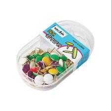 Drawing Fixing Metal Push color Pins, Round Head Metal thumbtack-2pack