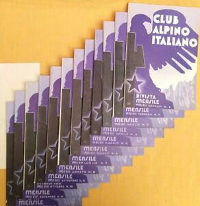 1935 annata completa CLUB ALPINO ITALIANO Rivista + indice