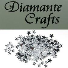 200 x 6mm Clear Stars Diamante Loose Flat Back Rhinestone Vajazzle Body Gems