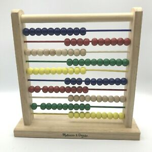 MELISSA & DOUG Abacus Classic Wooden Educational Counting Toy