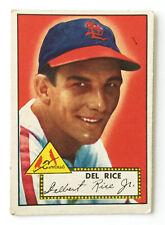 1952 Topps Baseball Card • Del Rice • #100