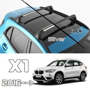 Bmw X1 Roof Rack Cross Bars For of Flush Bars Black