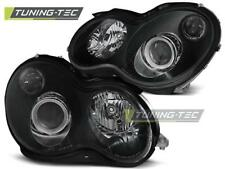 FARI ANTERIORI HEADLIGHTS MERCEDES W203 C-KLASA 07.00-03.04 BLACK*1119