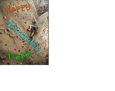 PERSONALISED Indoor Climbing Wall Rock Climbing A5 Birthday Card ANY NAME AGE