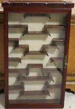 Chinese Hanging Teak Curio Shelf W/ Glass Door Lot 3491