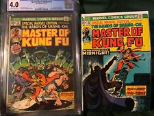 Masters of Kung Fu 15 cgc 4.0, and 16