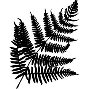 'Fern Leaf' Unmounted Rubber Stamp (RS014777)