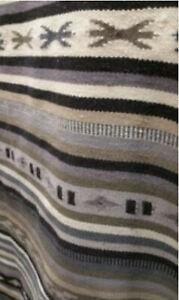 "IKEA Kattrup Area Runner Rug Flatwoven Handmade Gray 8'2"" x 2'6"" Striped"