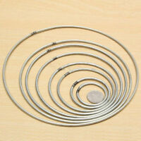 "Good Welded Metal Iron Ring Craft Hoop DIY Accessories Dia: 1-10"""