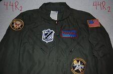 """TOP GUN """"Maverick"""" Pilot Costume Adult Large 44R Navy Air Force """"Goose"""" """"Iceman"""""""