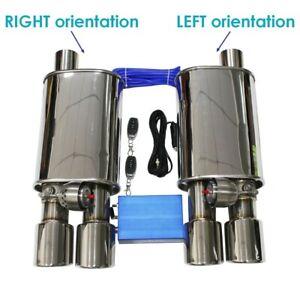 Silencieux a valve universel en acier inoxydable (51, 63, 76 mm)