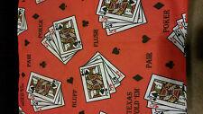NEW 2 Poker Cards Pillow Cases Royal FLUSH ,TEXAS HOLD ' EM,PAIR,BLUFF
