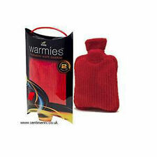 Intelex Warmies Microwavable Red Bottle Winter water bottle neck back pain