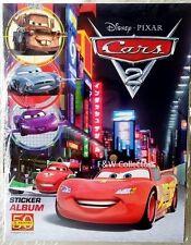 PANINI DISNEY PIXAR CARS 2 STICKER COLLECTION ALBUM & 12 STICKERS NEW