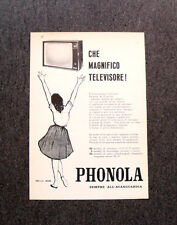 M121- Advertising Pubblicità -1960- PHONOLA MAGNIFICO TELEVISORE
