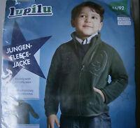 Jungen Fleecejacke * 86/92 * Grün mit Taschen * lupilu * Neu * OVP