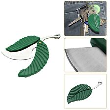 Outdoor Camping Portable Stainless Steel Key-chain Leaf Pocket Folding Knife #zh