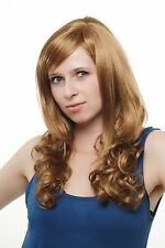 Damenperücke Perücke Dunkelblond lang gelockte Spitzen 3414-27 wig Peluca