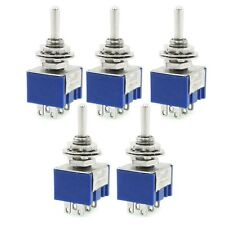 5 Pcs ON/OFF/ON 6-Terminals Double Pole Center off Toggle Switch DPDT