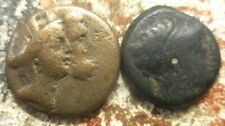 Lot of 2 Greek Galley Coins, One is Phoenicia, Sidon. Conjoined Tyche, & Zeus!
