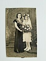 "Victorian Photograph of Confirmation of Faith, Mother & Daughter #6 ~3.5""x6.75"""