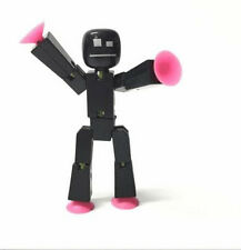 Surper Rare Stikbot Black Solid Animation Single Action Figure Toy Gift Ca157