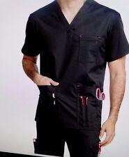MC2 Men's Medical Scrub SetTactical Top8484/Pants Red Alert 8709 Black 3XL NWT