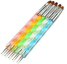 5pcs pinceaux de peinture design nail art acrylique parsemant