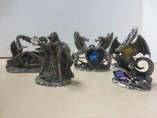 WAPW Pewter Dragon Figurines Job Lot Mark Locker Moon Wizard Crystal Secrets C22