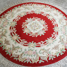 Bedroom Hand-Knotted Round Rugs