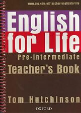 Oxford ENGLISH FOR LIFE PRE-INTERMEDIATE Teacher's Book Pack with CD @NEW@