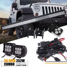 "39 IN LED Light Bar +4"" PODS Pickup RZR ATV UTE SUV Jeep Offroad Driving Light"