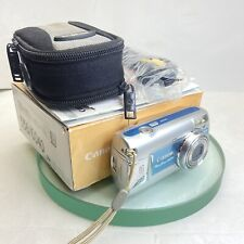 Canon Powershot A470 7.1MP Digital Camera - BOXED, Blue-Silver Tested, Great