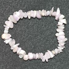 Kunzite Chip Bracelet Silk Bag Reiki Natural Crystal Healing Love Jewellery